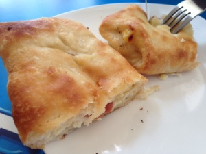 Khachapuri (Georgian cheesebread) everywhere.